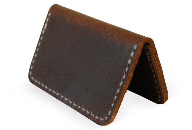 2-Pocket Cardholder, Brown