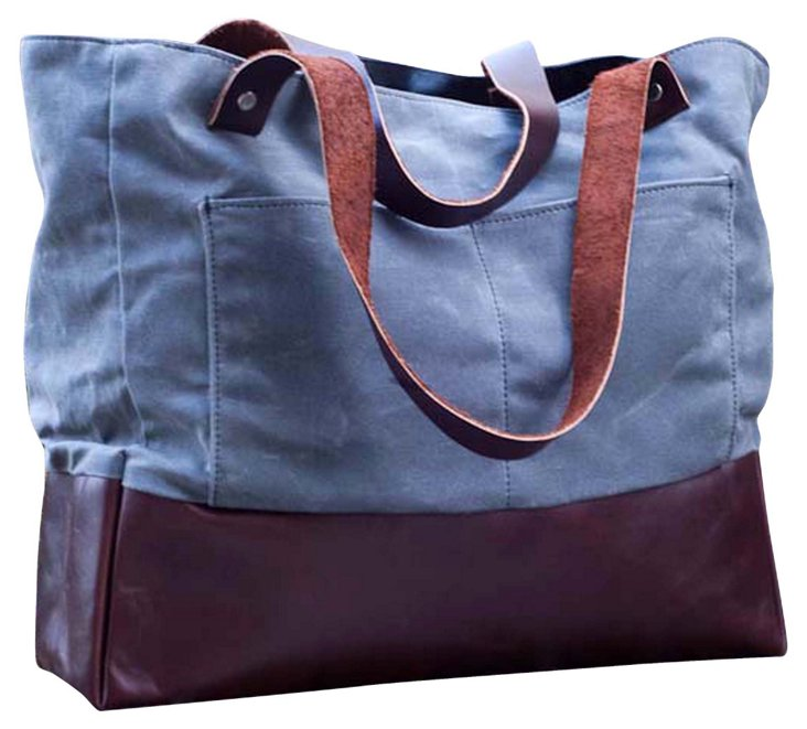 Wax Canvas and Boot Leather Tote
