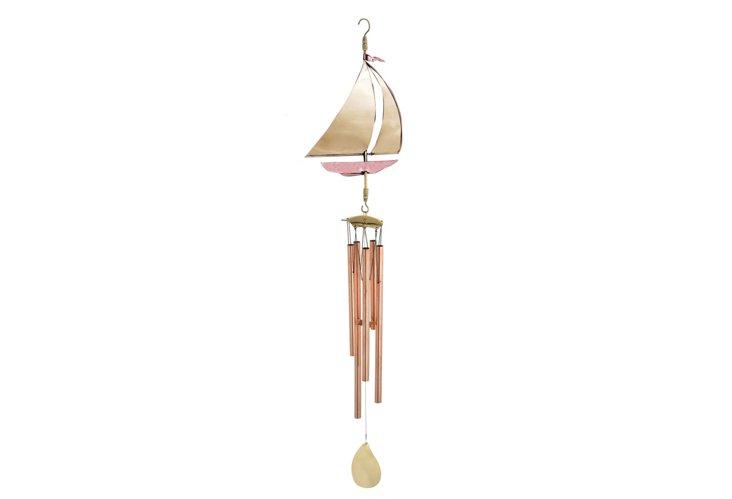 """42"""" Sailboat Wind Chime, Copper"""