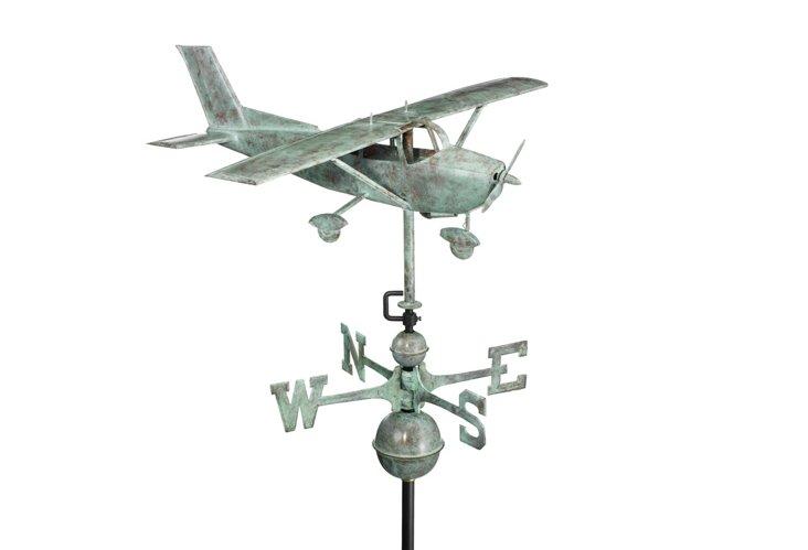 Verdigris Copper Hi-Wing Weathervane