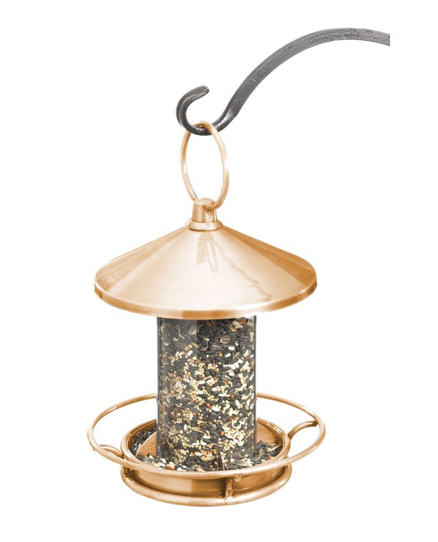 "15"" Classic Bird Feeder, Copper"