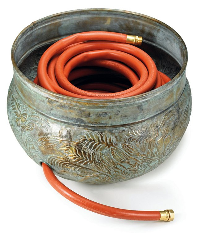 "20"" Hose Holder, Verdigris"