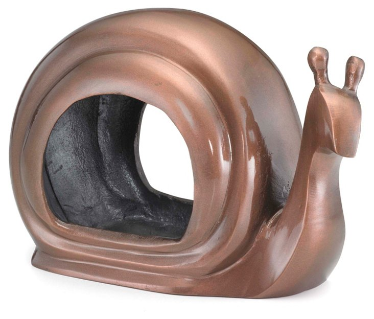 Snail Birdfeeder, Cast Aluminum