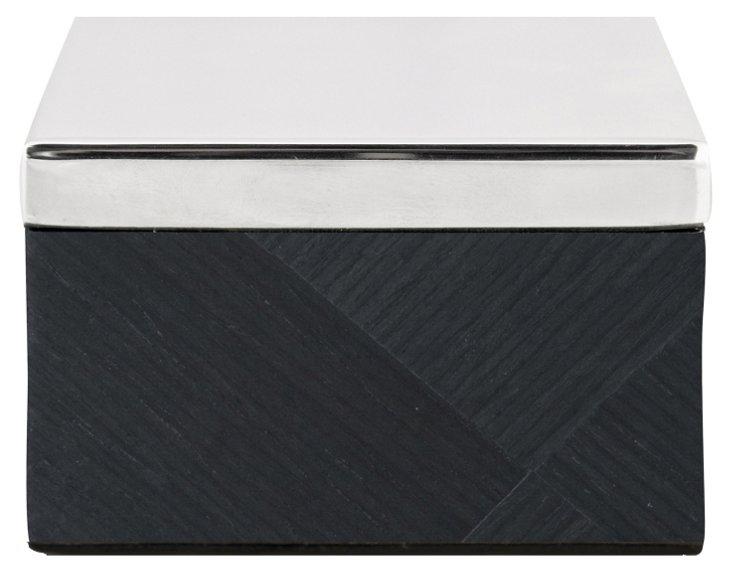 Veneer Amenity Box, Black Diamonds
