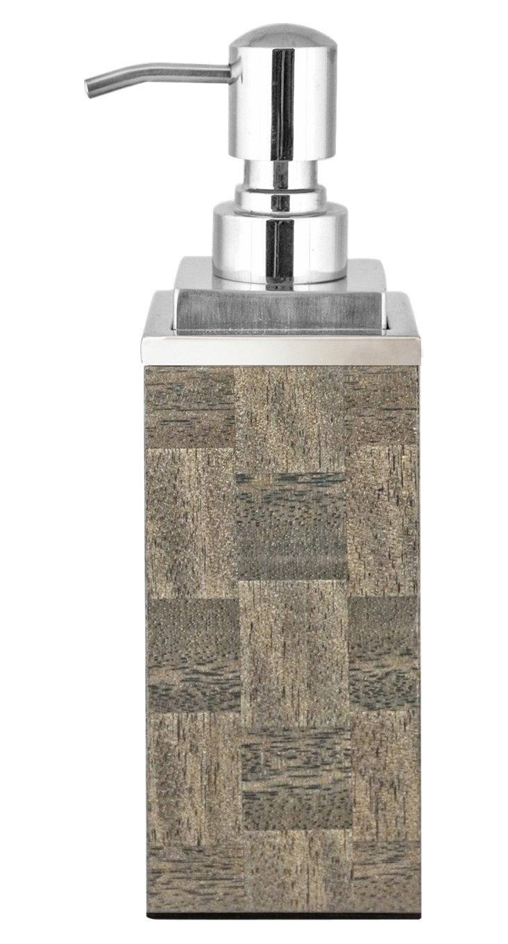 Veneer Soap Pump, Gray Squares