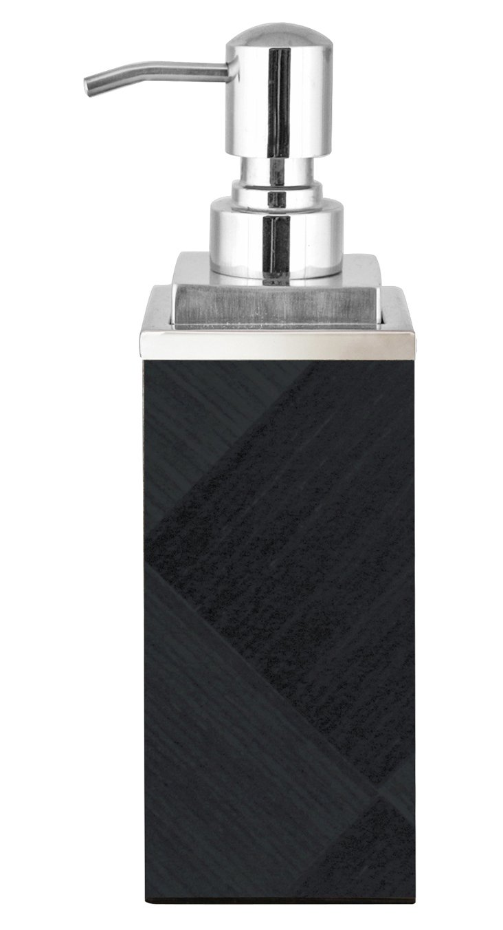Veneer Soap Pump, Black Diamonds