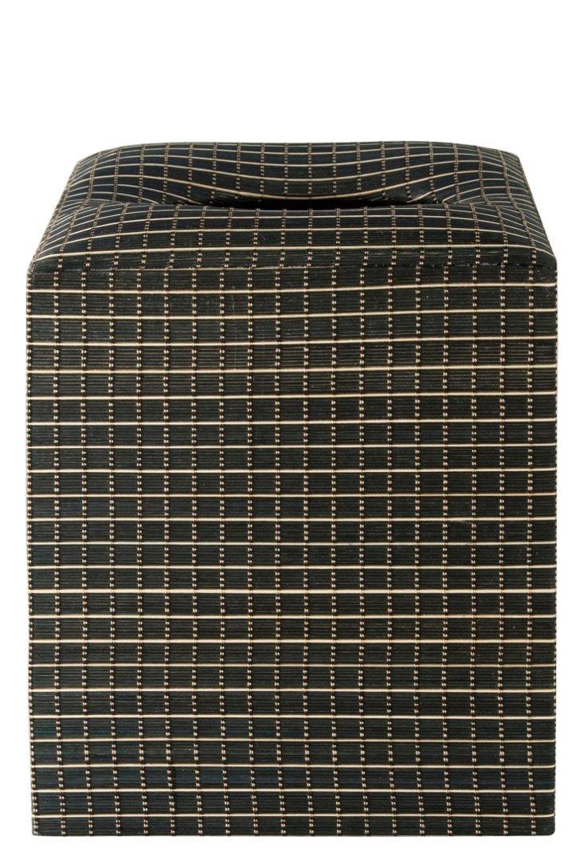 Squares Tissue Box Cover, Black