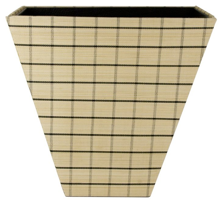 Windowpane Wastebasket, Natural