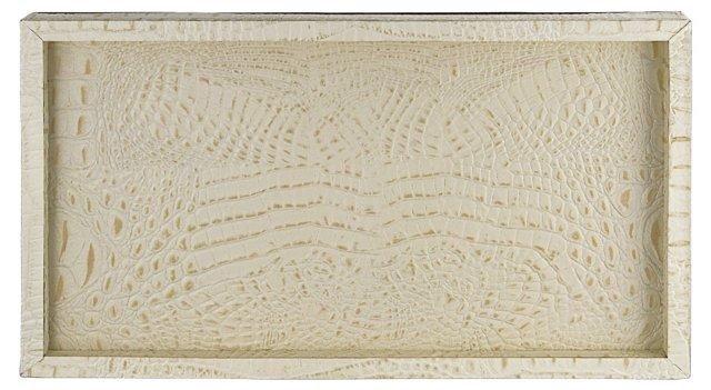 Ivory Alligator Tray