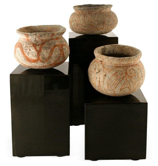 Ban Chiang-Style Bowls, Set of 3