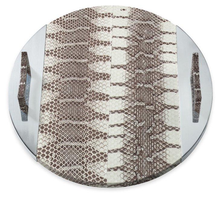 Round Snakeskin Tray