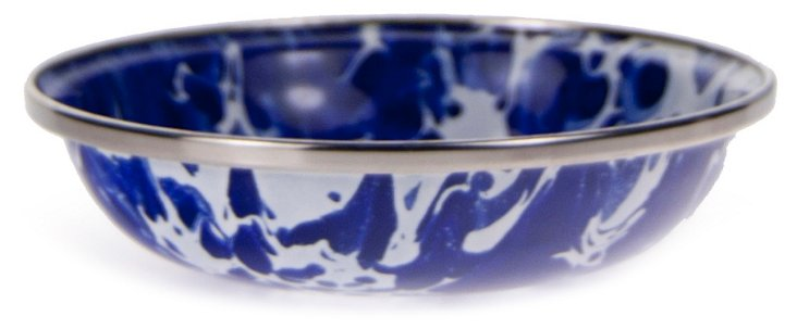 S/4 Tasting Dishes, Cobalt Swirl