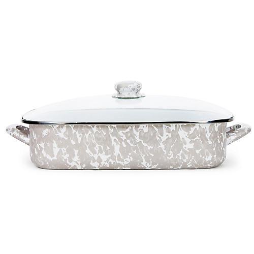 Enamelware Lasagna Pan, Taupe