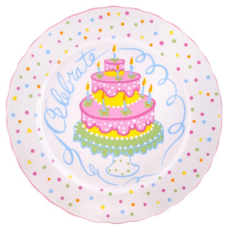 Set of 4 Celebrate Dessert Plates