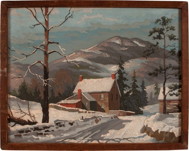 1940s Plywood Painting Winter