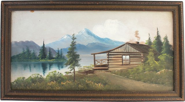 J. A. Speer Cabin Painting