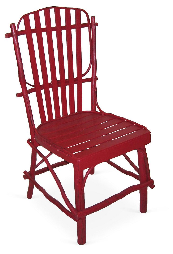 DNURustic Dining Chair, Red