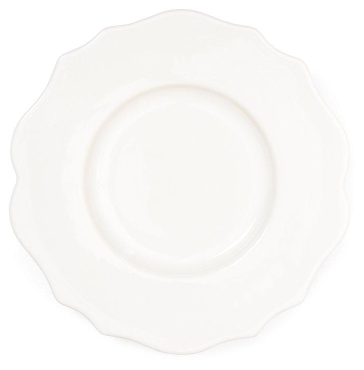 S/4 Baroque Salad Plates, White