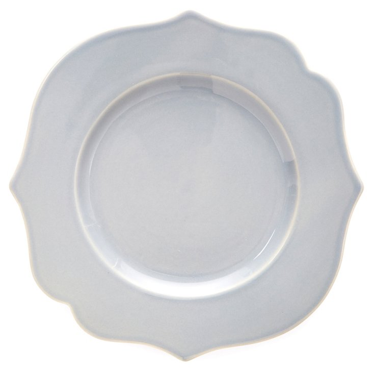 S/4 Baroque Dinner Plates, Pewter
