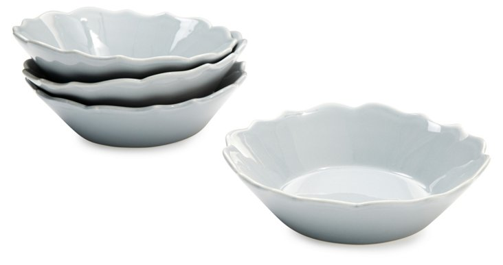 S/4 Baroque Bowls, Pewter