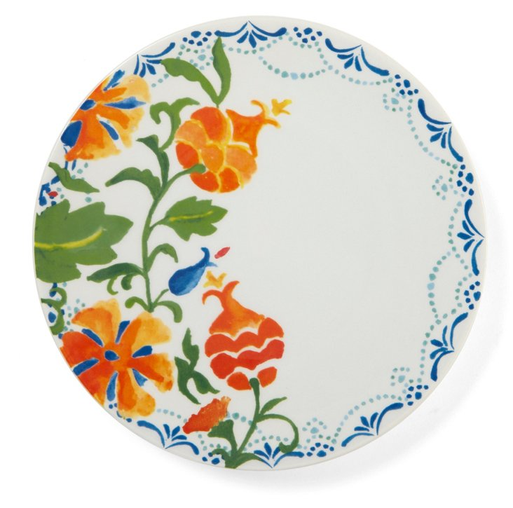 S/4 Ceramic Pomegranate Salad Plates