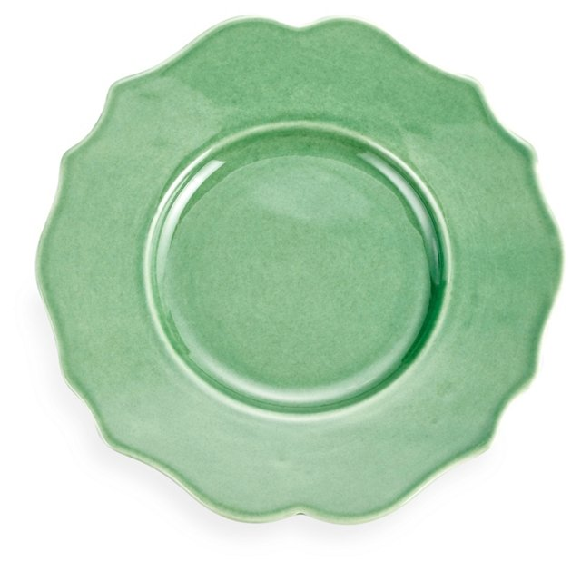 S/4 Baroque Salad Plates, Green
