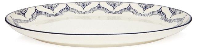 Medallion Oval Platter, Blue
