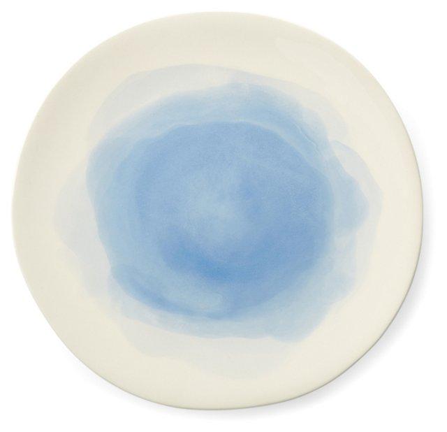 S/4 Hand-Painted Splash Dinner Plates