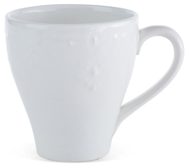 S/4 Laurel Mugs, White