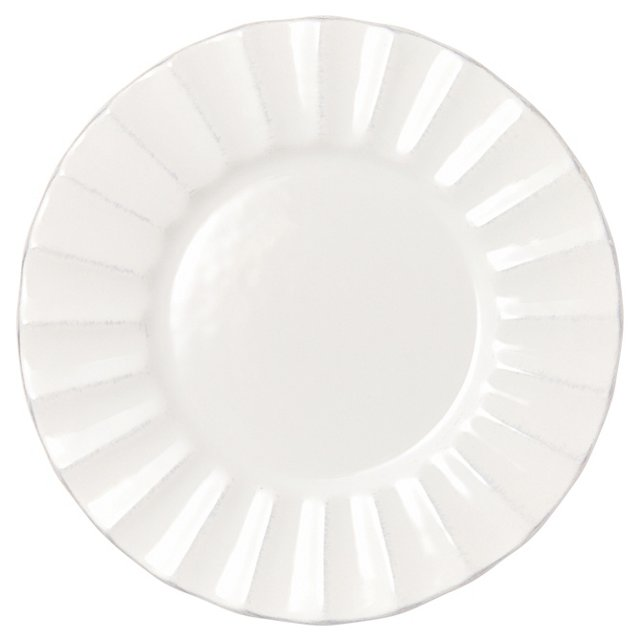 S/4 Medallion Salad Plates, White