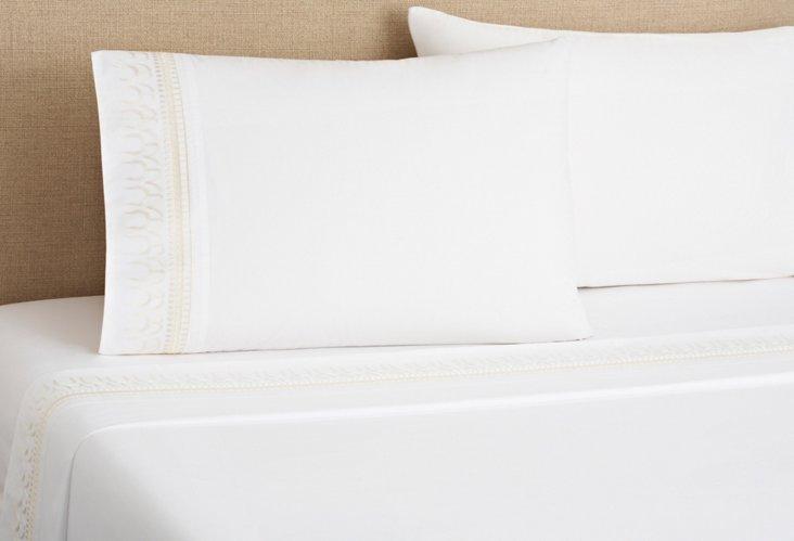 Addis Sheet Set, White/Ivory