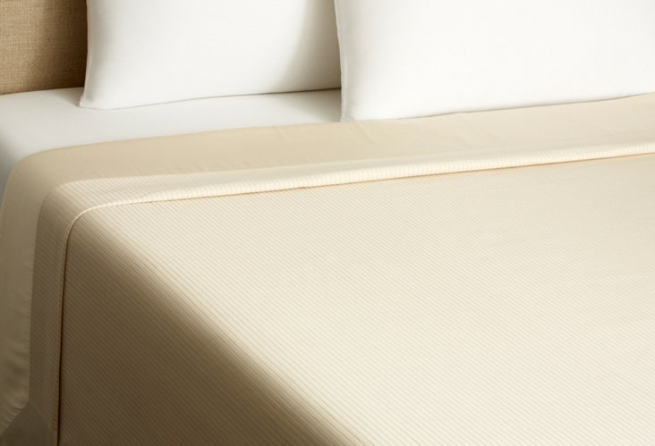 Cannete Coverlet, Ivory/Ivory