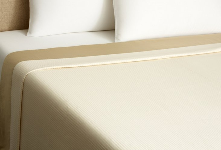 Cannete Coverlet, Ivory/Sable