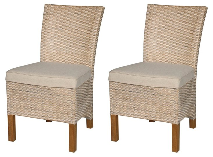 Hailey Side Chairs, Pair
