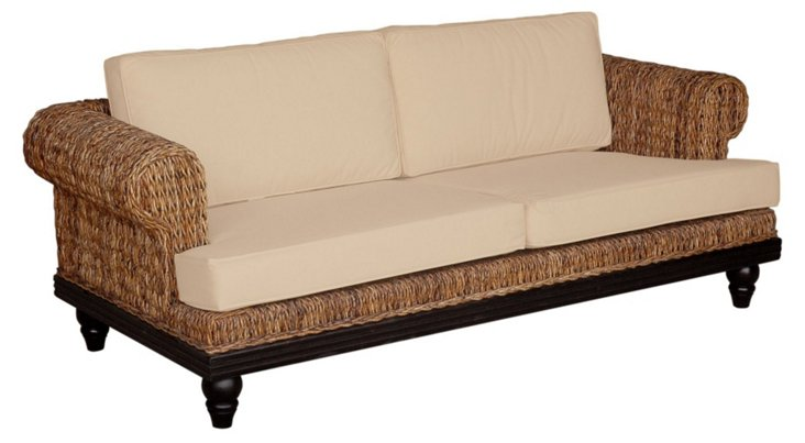 "Tropical Abaca 80"" Sofa"