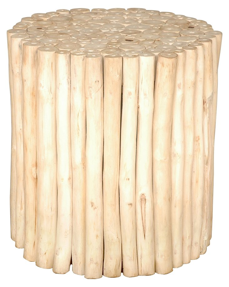 Prelude Round Stool, Natural