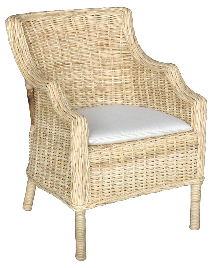 Kennedy Side Chair, Natural/Cream