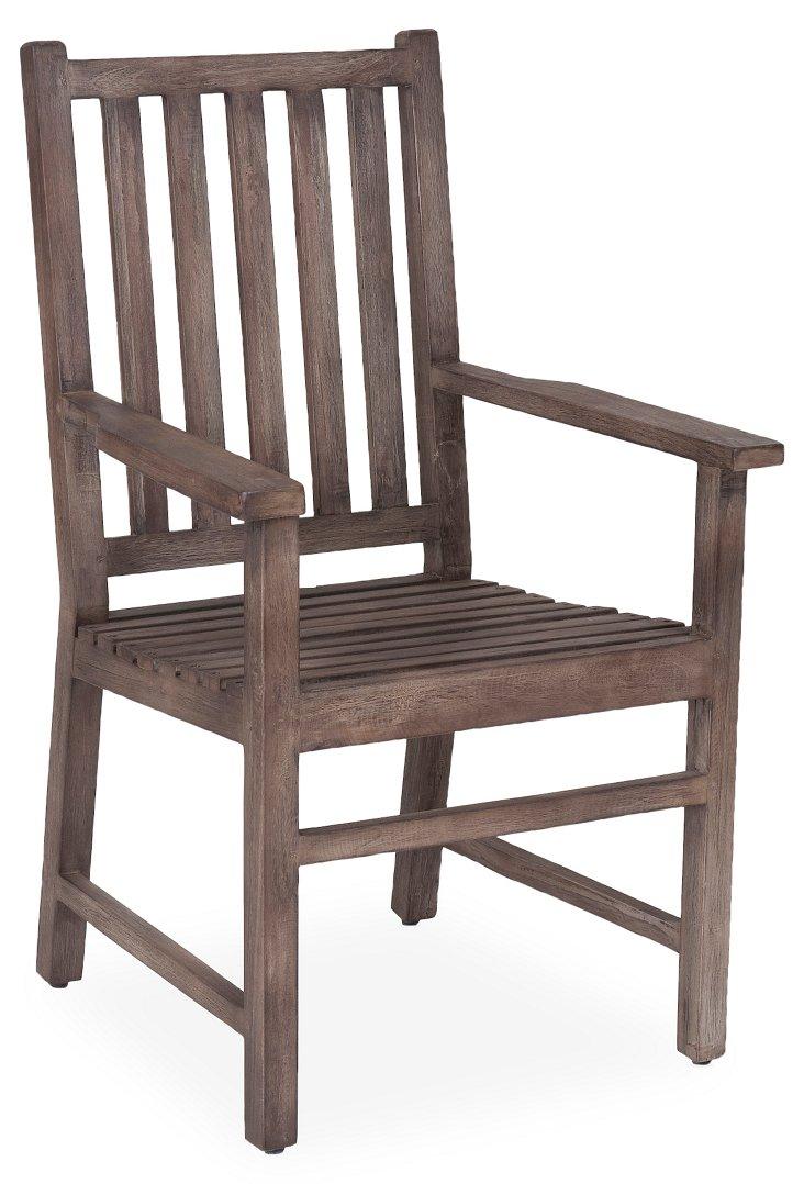 Georgina Arm Chair, Gray