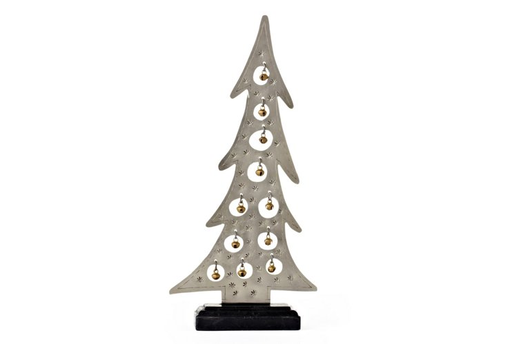 Metal Tree with Brass Bells, Small