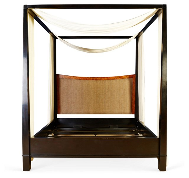 Sutro Upholstered Canopy Bed, King