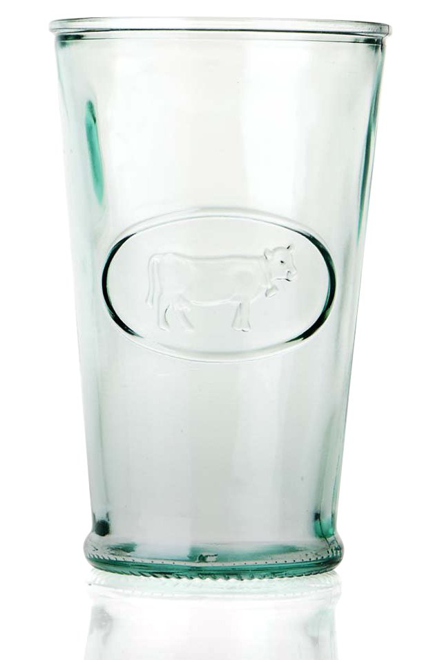 S/8 Recycled-Glass Milk Glasses