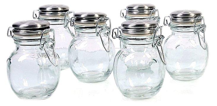 S/6 Orcio Spice Jars