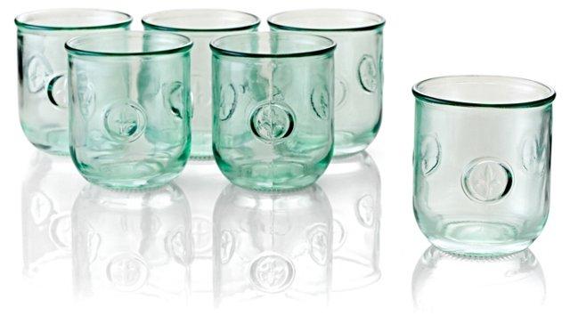 S/6 Fleur-de-Lis DOF Glasses