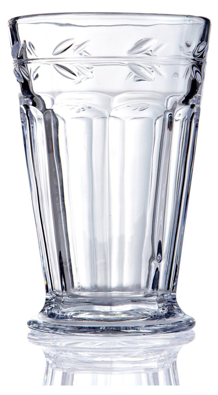 S/6 Leaf Highball Glasses DNU, Disc
