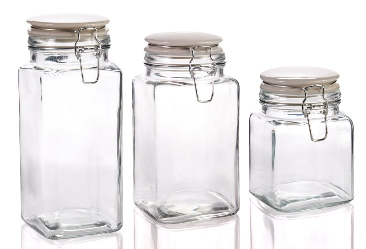 S/3 Assorted Cresta Quadra Jars