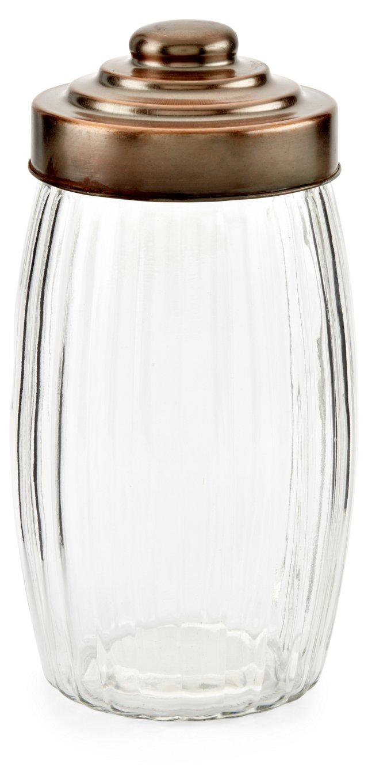 S/6 Copper Lid Jars, 68 Oz