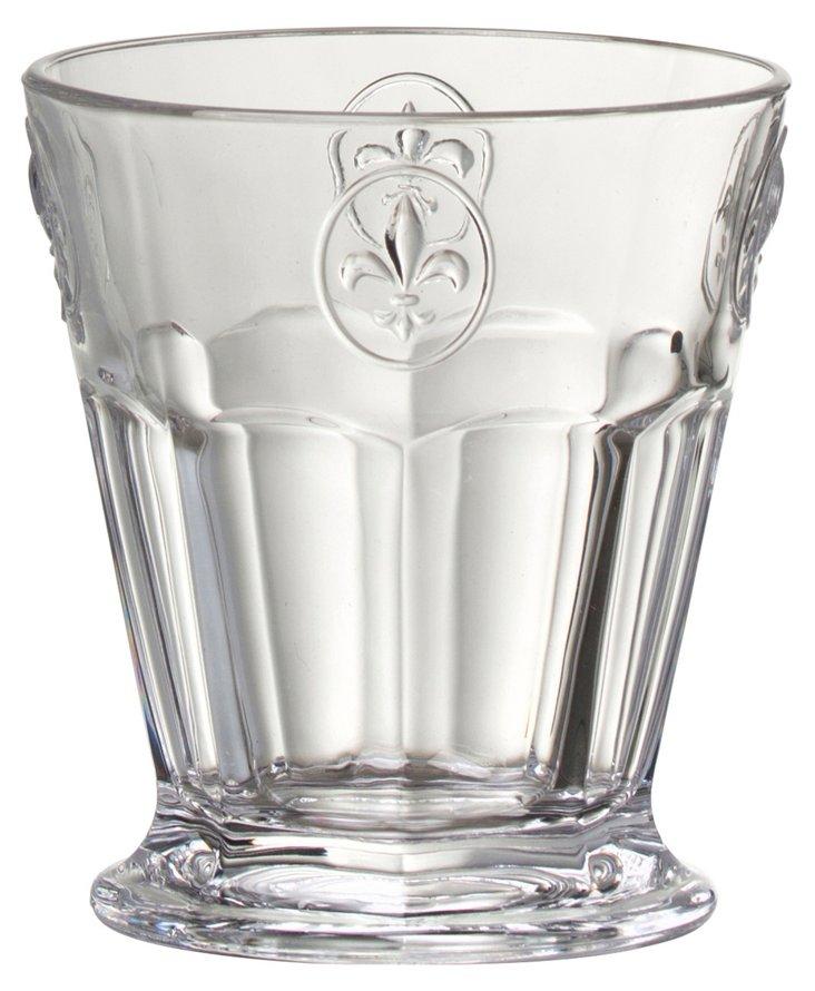 S/6 Fleur-de-Lis Clear DOF Glasses