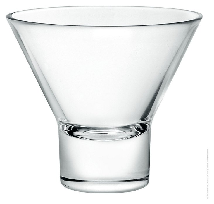 S/4 Stemless Martini Glasses