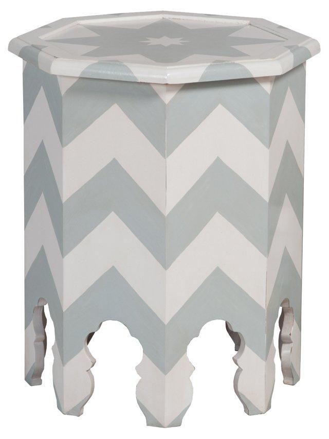 Abbe Octagonal Table, White/Gray