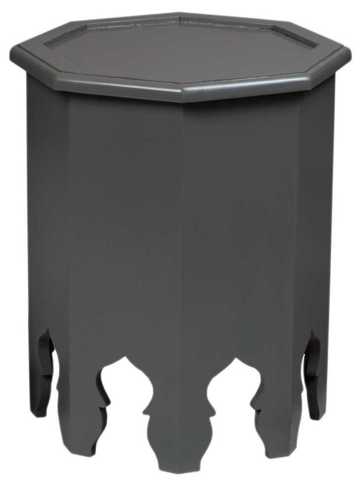 Weiss Octagonal Table, Charcoal